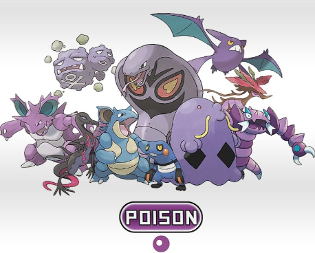 Poison Type Pokemon